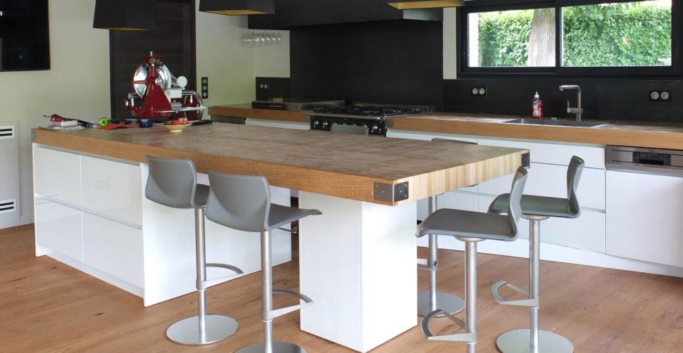Créations en bois de bout pour cuisinistes et agenceurs