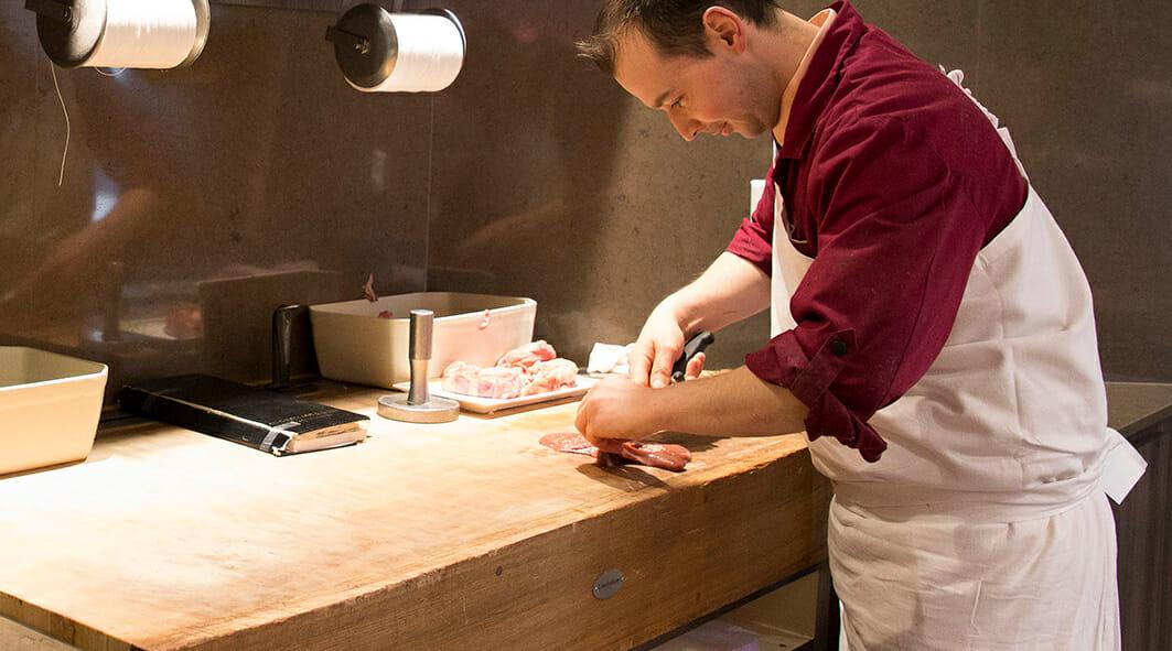 Billot de boucher professionnel