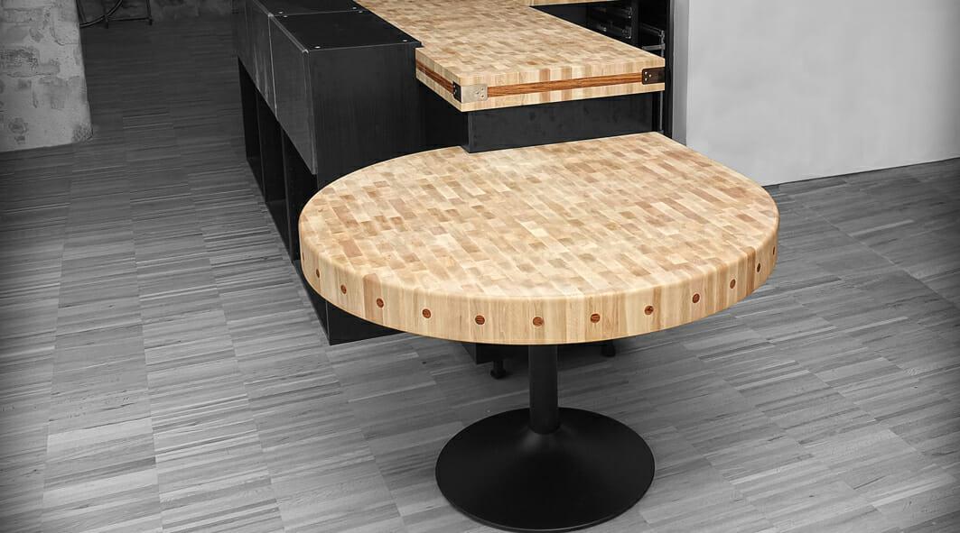 Créations en bois de bout-Table et plan de travail