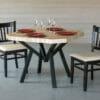 K-Table en bois de bout et acier