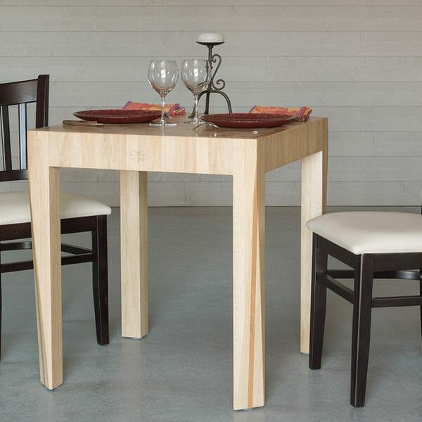 Table de bois de bout